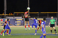 Buffalo, NY - Saturday Sept. 17, 2016: Jessica McDonald, Naphat Seesraum during a friendly international match between the Western New York Flash and the Women's National Team of Thailand at Demske Sports Complex at Canisius College. The United States defeated the Netherlands 3-1.