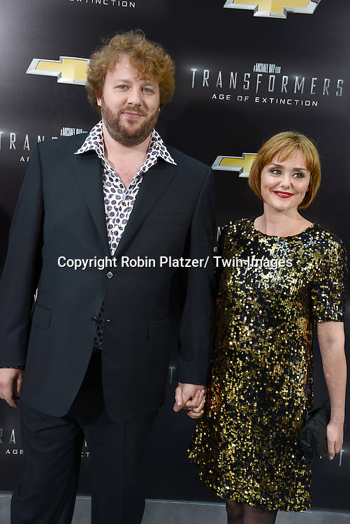 "James Bachman and date attends the US Premiere of ""Transformers: Age of Extinction"" on June 25, 2014 at The Ziegfeld Theatre in New York City, New York, USA."