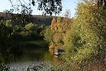 Jordan Pond in autumn at Garin Regional Park
