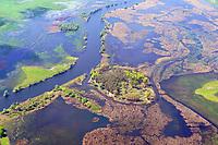 Havel östlich Havelberg kurz vor dem Zufluss in die Elbe: DEUTSCHLAND, SACHSEN-ANHALT, (GERMANY, SAXONY-ANHALT), 7.05.2020:  Havel östlich Havelberg kurz vor dem Zufluss in die Elbe, jedes Jahr im Frühjahr tritt der Fluss über die Ufer, Naturbelassene Flusslandschaft der unteren Havel,