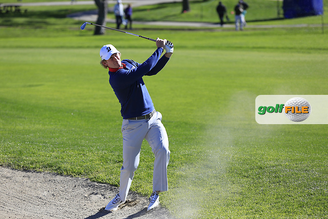 Brandt Snedeker (USA) plays his 2nd shot from a fairway bunker on the 1st hole during Friday's Round 2 of the 2017 Farmers Insurance Open held at Torrey Pines Golf Course, La Jolla, San Diego, California, USA.<br /> 27th January 2017.<br /> Picture: Eoin Clarke | Golffile<br /> <br /> <br /> All photos usage must carry mandatory copyright credit (&copy; Golffile | Eoin Clarke)