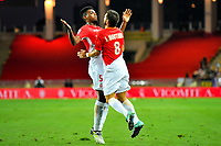 Joie - Jemerson Jesus Nascimento (AS Monaco) - Joao Moutinho(AS Monaco)<br /> 04-08-2017 <br /> Monaco - Toulouse <br /> Calcio Ligue 1 2017/2018 <br /> Foto Scanella/ Panoramic/Insidefoto