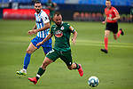 Emre Colak (RC Deportivo de la Coruna) seen in action during La Liga Smartbank match round 39 between Malaga CF and RC Deportivo de la Coruna at La Rosaleda Stadium in Malaga, Spain, as the season resumed following a three-month absence due to the novel coronavirus COVID-19 pandemic. Jul 03, 2020. (ALTERPHOTOS/Manu R.B.)