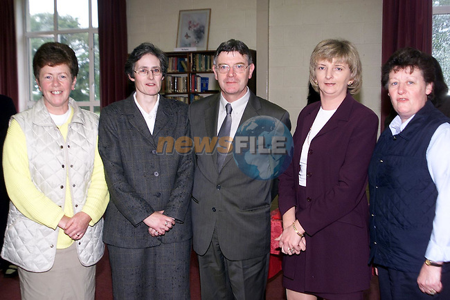 Margaret Tiernan, Maura Monahan, Frank Dunne, Bernadeete Flemming and Kathleen Devin at the 40th Anniversary celebrations for the Sacred Heart School..Picture Paul Mohan Newsfile
