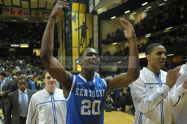 UK's Doron Lamb after the University of Kentucky men's basketball game against Vanderbilt, at Memorial Gym, in Nashville, Tennessee., on Feb. 11, 2012. UK won 69-63. Photo by Mike Weaver | Staff