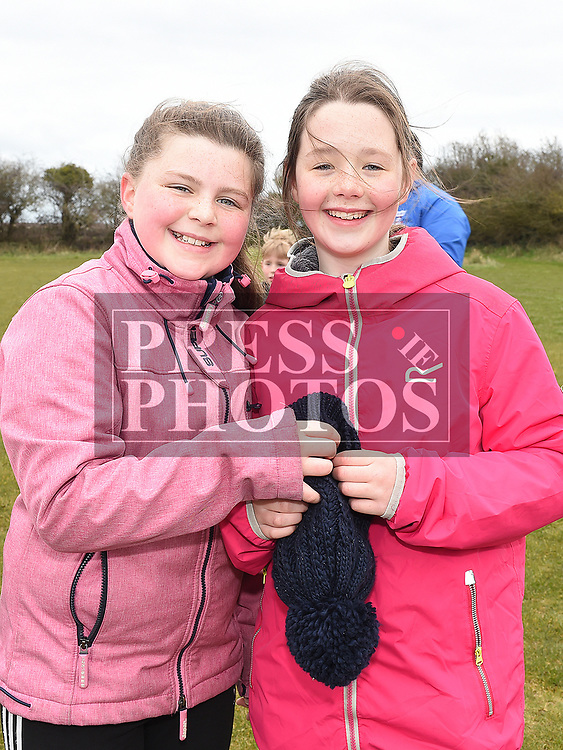 Nora O'Brien and Rebecca Hughes at the East Meath United Easter Egg Hunt. Photo:Colin Bell/pressphotos.ie
