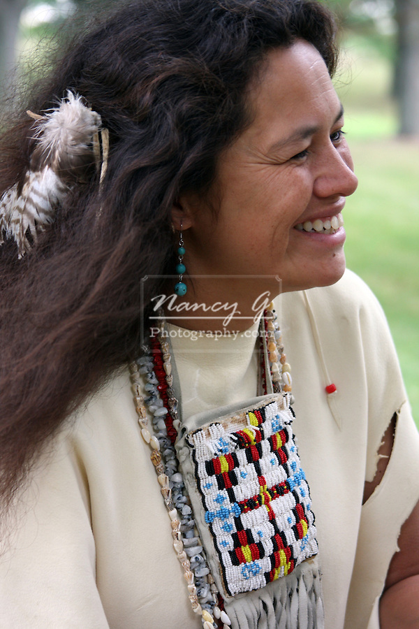A Native American Lakota Sioux Indian woman smiling