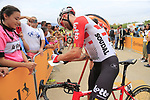 Tomasz Marczynski (POL) Lotto-Soudal at sign on before the start of Stage 4 of La Vuelta 2019 running 175.5km from Cullera to El Puig, Spain. 27th August 2019.<br /> Picture: Eoin Clarke | Cyclefile<br /> <br /> All photos usage must carry mandatory copyright credit (© Cyclefile | Eoin Clarke)