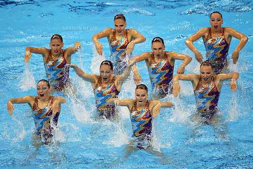 Russia National Team Group (RUS), ..July 23, 2011 - Synchronised Swimming : ..14th FINA World Championships Shanghai 2011, Team Free Routine Final ..at Oriental Sports Center Indoor Stadium, Shanghai, China. ..(Photo by Daiju Kitamura/AFLO SPORT) [1045]