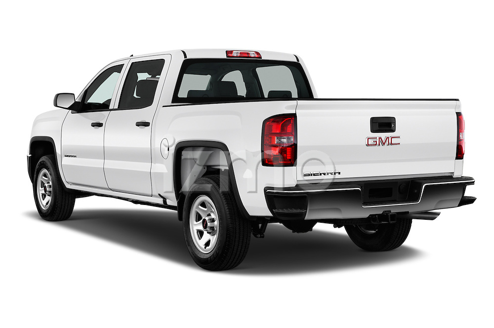 Car pictures of rear three quarter view of 2016 GMC Sierra 1500 2WD Crew Cab Short Box 4 Door Pick-up Angular Rear