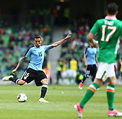 June 4th 2017, Aviva Stadium, Dublin, Ireland; International Friendly, Ireland versus Uruguay;  Matias Vecino of Uruguay takes a shot towards the Irish goal