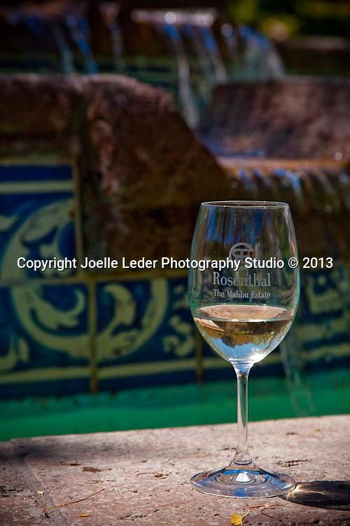 Rosenthal Estate Winery, Tasting Room, Malibu, Pacific Coast Highway, California, Wine Photography, Wine Bottle Photographer, Landscape Images on wine bottle label, Malibu, California, George Rosenthal Estate, Wine Club Summer Party, Joelle Leder Photography Studio © 2012