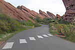Canyon road in Red Rocks State Park, Colorado .  John leads private photo tours in Boulder and throughout Colorado. Year-round.
