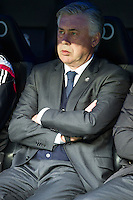 Real Madrid´s coach Carlo Ancelotti during 2014-15 La Liga match between Real Madrid and Deportivo de la Coruna at Santiago Bernabeu stadium in Madrid, Spain. February 14, 2015. (ALTERPHOTOS/Luis Fernandez) /NORTEphoto.com