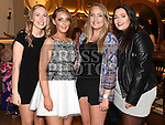 Shannon Branigan celebrating her 21st birthday in the Thatch with friends Niamh Shortt, Christine Doyle and Emma O'Brien. Photo:Colin Bell/pressphotos.ie