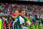 Alan Fitzgerald, Kerry players after defeating Tyrone in the All Ireland Semi Final at Croke Park on Sunday.