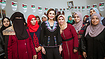 18.03.2018; Madaba, Jordan: QUEEN RANIA<br />visits Al Fayha&rsquo; Secondary School for Girls and the Madaba Women&rsquo;s Charity Association in Al Fayha&rsquo; Village, Madaba. <br />Mandatory Photo Credit: &copy;Royal Hashemite Court/NEWSPIX INTERNATIONAL<br /><br />IMMEDIATE CONFIRMATION OF USAGE REQUIRED:<br />Newspix International, 31 Chinnery Hill, Bishop's Stortford, ENGLAND CM23 3PS<br />Tel:+441279 324672  ; Fax: +441279656877<br />Mobile:  0777568 1153<br />e-mail: info@newspixinternational.co.uk<br />&ldquo;All Fees Payable To Newspix International&rdquo;