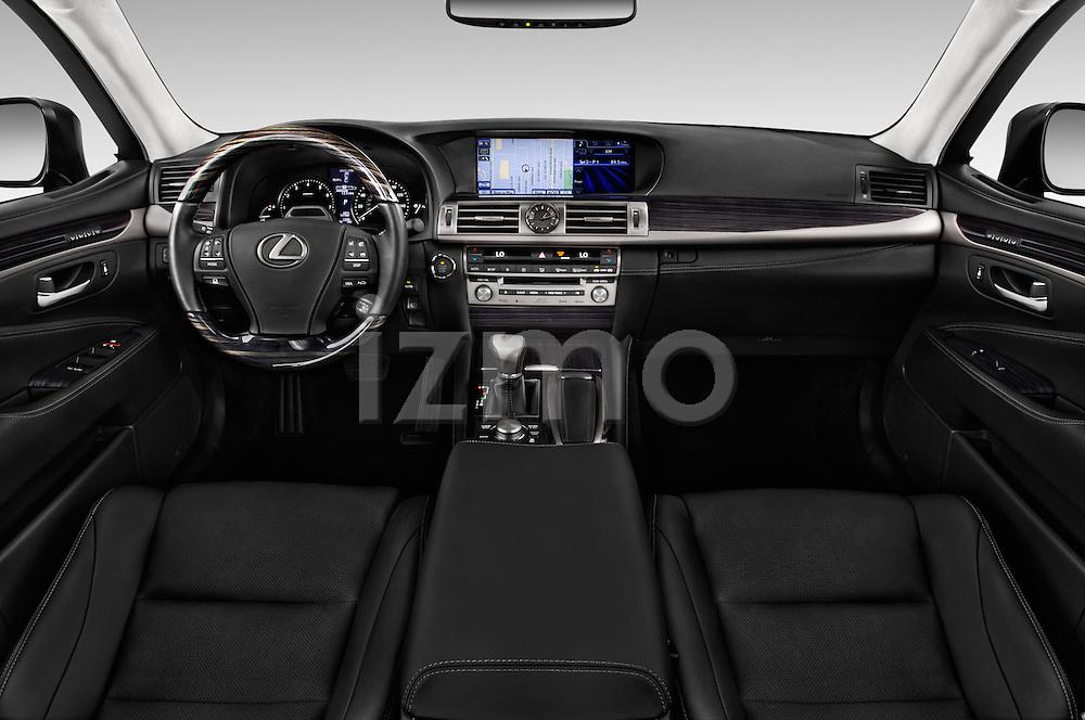 Stock photo of straight dashboard view of 2016 Lexus LS L 4 Door Sedan 2WD Dashboard
