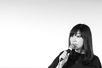 13th July 2019: Comedian Yuriko Kotani performs her show 'Somosomo' on day 1 of the 2019 Comedy Crate Festival in Northampton