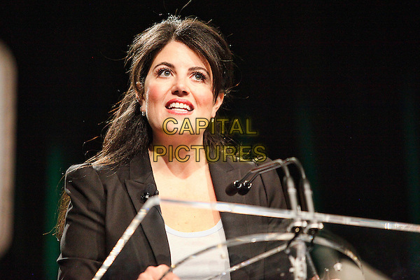 PHILADELPHIA, PA - OCTOBER 20 :  Monica Lewinsky speaking in public for the first time since the Clinton mess at Forbes Under 30 Summit at the Convention Center in Philadelphia, Pa on October 20, 2014  <br /> CAP/MPI/SS<br /> &copy;SS/MPI/Capital Pictures