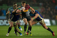 Harlequins' James Lang in action during todays match<br /> <br /> Photographer Bob Bradford/CameraSport<br /> <br /> European Rugby Challenge Cup Pool 5 - Harlequins v Benetton Treviso - Saturday 15th December 2018 - Twickenham Stoop - London<br /> <br /> World Copyright &copy; 2018 CameraSport. All rights reserved. 43 Linden Ave. Countesthorpe. Leicester. England. LE8 5PG - Tel: +44 (0) 116 277 4147 - admin@camerasport.com - www.camerasport.com