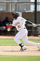 Rashun Dixon - Oakland Athletics - 2010 Instructional League.Photo by:  Bill Mitchell/Four Seam Images..