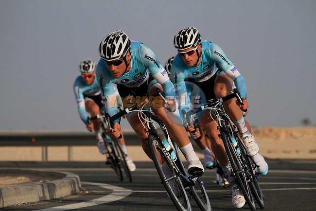 Omega Pharma-Quick Step team in action during the 2nd Stage of the 2012 Tour of Qatar a team time trial at Lusail Circuit, Doha, Qatar, 6th February 2012 (Photo Eoin Clarke/Newsfile)