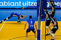 GRONINGEN - Volleybal, Lycurgus - TT Papendal, Alfa College, Eredivisie,  seizoen 2018-2019, 31-01-2019,  Lycurgus speler Frits van Gestel brengt op bijzondere wijze redding