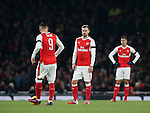 Arsenal's Aaron Ramsey looks on dejected after Southampton's opening goal during the EFL Cup match at the Emirates Stadium, London. Picture date October 30th, 2016 Pic David Klein/Sportimage