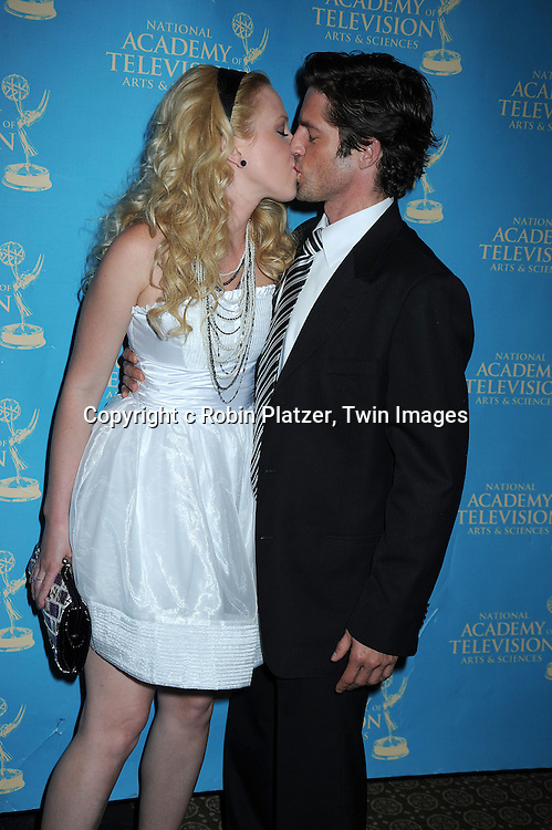 Adrienne Frantz and fiance Scott Bailey attending the 37th Daytime Emmy Awards Creative Arts & Entertainment Awards on JUne 25, 2010 at the Bonaventure Hotel in Los Angeles.