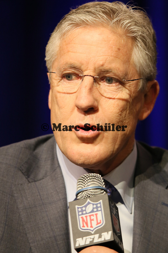 Head Coach Pete Carroll (Seahawks)  - Gemeinsame Team Pressekonferenz Super Bowl XLIX, Convention Center Phoenix