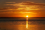 Sunrise over the lagoon on the remote island of Kiritimati in Kiribati