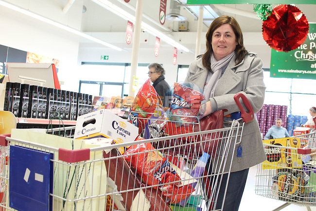 Cynthia Patton at Sainsbury's at The Quays Shopping Centre, Newry...(Photo credit should read Jenny Matthews www.newsfile.ie)....This Picture has been sent you under the conditions enclosed by:.Newsfile Ltd..The Studio,.Millmount Abbey,.Drogheda,.Co Meath..Ireland..Tel: +353(0)41-9871240.Fax: +353(0)41-9871260.GSM: +353(0)86-2500958.email: pictures@newsfile.ie.www.newsfile.ie.