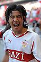 Shinji Okazaki (Stuttgart), MAY 7th, 2011 - Football : Shinji Okazaki of Stuttgart celebrates his goal during the Bundesliga match between VfB Stuttgart 2-1 Hannover 96 at Mercedes-Benz Arena in Stuttgart, Germany. (Photo by FAR EAST PRESS/AFLO).
