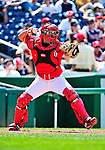 20 June 2010: Washington Nationals' catcher Wil Nieves in action against the Chicago White Sox at Nationals Park in Washington, DC. The Nationals were swept by the White Sox falling 6-3 in the last game of their 3-game interleague series. Mandatory Credit: Ed Wolfstein Photo