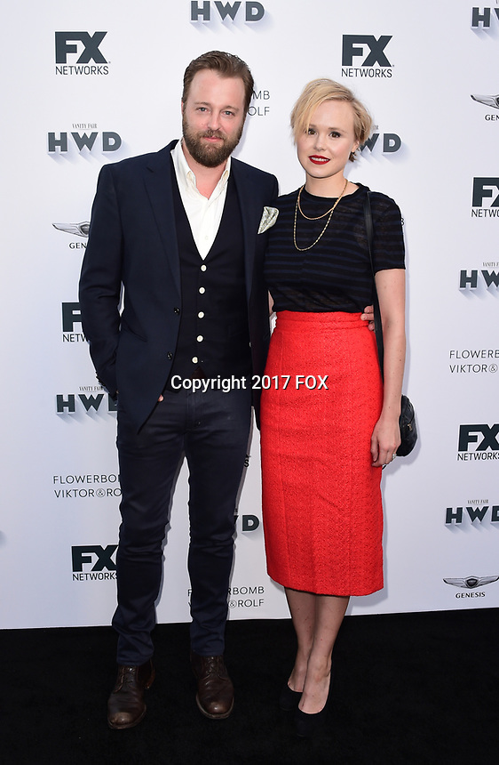 LOS ANGELES, CA - SEPTEMBER 16: (L-R) Alison Pill and Joshua Leonard attend the FX Networks and Vanity Fair 2017 Primetime Emmy Nominee Celebration at Craft LA on September 16, 2017 in Los Angeles, California. (Photo by Scott Kirkland/FX/PictureGroup)