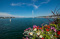 Switzerland, Geneva, Lake Geneva.