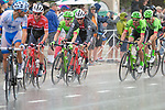 August 10, 2017 - Colorado Springs, Colorado, U.S. -  Heavy rain descends on men's pro cycling action during the opening stage of the inaugural Colorado Classic cycling race, Colorado Springs, Colorado.