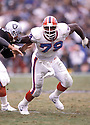 Buffalo BIlls Bruce Smith (78) in action during a game against the Los Angeles Raiders on December 8, 1991 at Los Angeles Memorial Coliseum in Los Angeles, California. The Bills beat the Raiders 30-27.