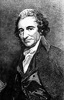 Thomas Paine.  Copy of engraving after George Romney.  (Army)<br /> Exact Date Shot Unknown