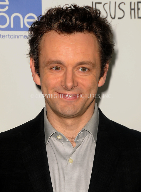 WWW.ACEPIXS.COM . . . . .  ....April 18 2012, New York City....Michael Sheen arriving at the 'Jesus Henry Christ'  Premiere at Manns Chinese 6 on April 18, 2012 in Los Angeles, California....Please byline: PETER WEST - ACE PICTURES.... *** ***..Ace Pictures, Inc:  ..Philip Vaughan (212) 243-8787 or (646) 769 0430..e-mail: info@acepixs.com..web: http://www.acepixs.com