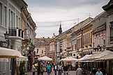 SERBIA, Novi Sad, A pedestrian street in Novi Sad,Eastern Europe