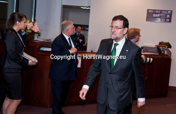 Brussels-Belgium - February 07, 2013 -- European Council, EU-summit meeting of Heads of State / Government; here, Mariano RAJOY BREY, Prime Minister of Spain  -- Photo: © HorstWagner.eu