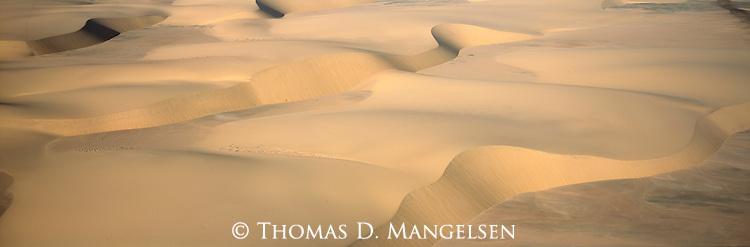 Sand dunes at the Skeleton Coast, Namibia.