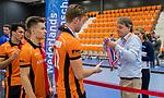 ROTTERDAM  - NK Zaalhockey,   wedstrijd om brons.  heren Oranje Rood- Kampong.        COPYRIGHT KOEN SUYK