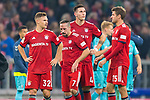03.11.2018, Allianz Arena, Muenchen, GER, 1.FBL,  FC Bayern Muenchen vs. SC Freiburg, DFL regulations prohibit any use of photographs as image sequences and/or quasi-video, im Bild enttaeuscht Joshua Kimmich (FCB #32) Franck Ribery (FCB #7) Niklas Suele (FCB #4) Thomas M&uuml;ller (FCB #25) <br /> <br />  Foto &copy; nordphoto / Straubmeier