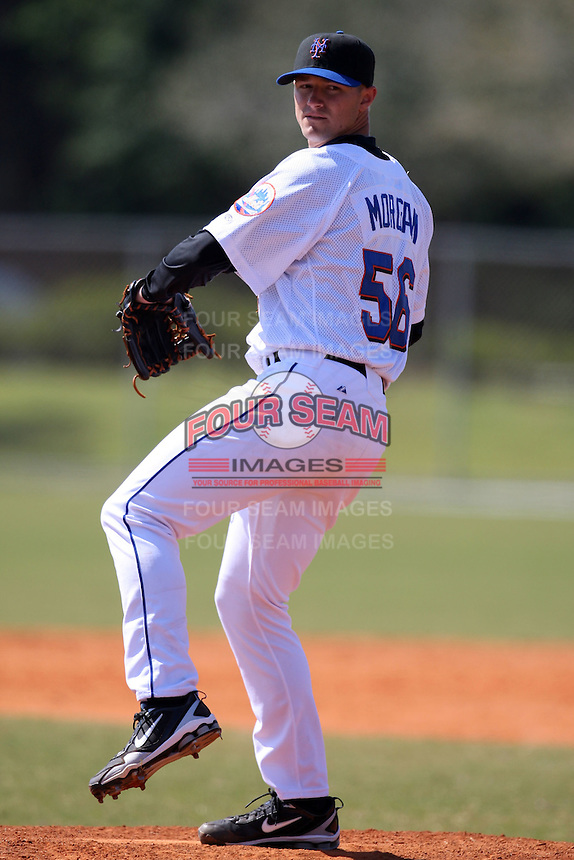 March 19, 2010:  Pitcher Will Morgan (56) of the New York Mets organization during Spring Training at the Roger Dean Stadium Complex in Jupiter, FL.  Photo By Mike Janes/Four Seam Images