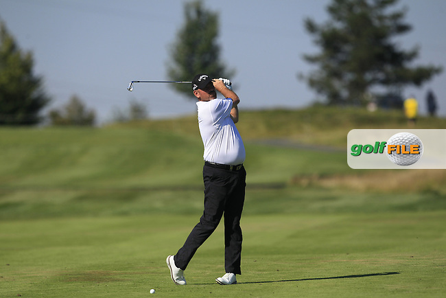 Thomas Bjorn (DEN) on the 18th fairway during Round 2 of the D&amp;D Real Czech Masters 2016 at the Albatross Golf Club, Prague on Friday 19th August 2016.<br /> Picture:  Thos Caffrey / www.golffile.ie<br /> <br /> All photos usage must carry mandatory copyright credit   (&copy; Golffile | Thos Caffrey)