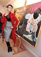 MACBEES ART &amp; FASHION KILLARNEY: Pictured at the Fashion Framed exhibition of art and fashion at MacBees Killarney was model Sohaila Lindheim<br /> Picture by Don MacMonagle