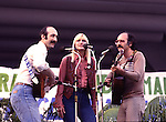 Peter Paul & Mary 1978  Peter Yarrow, Mary Travers, Paul Stookey at Survival Sunday..© Chris Walter..